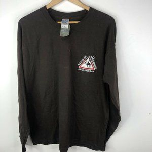 Task Force Gear Mission Afghanistan T Shirt Camel Racing Mens XL Brown